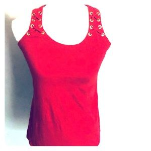 Size Small INC- Red Classy Tank